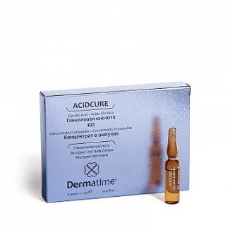 ACIDCURE Glycolic Acid 10% (Dermatime) – Гликолевая кислота 10% – Средство в ампулах
