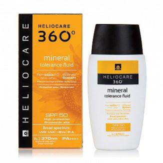 Солнцезащитный минеральный флюид с SPF 50 для чувствительной кожи
