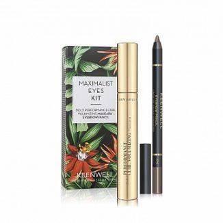 MAXIMALIST EYES KIT: Bold Performance Curl Volumizing Mascara & Eyebrow Pencil (Keenwell) – набор из двух средств (объемная тушь для подкручивания ресниц + карандаш для бровей)